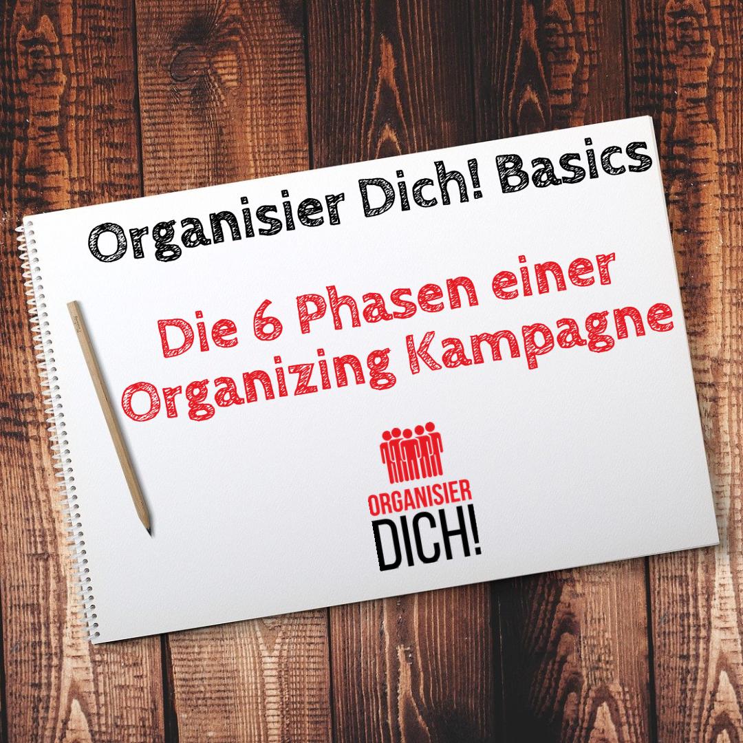 Folge 1: Organisier Dich! Basics/ Die 6 Phasen einer Organizing Kampagne